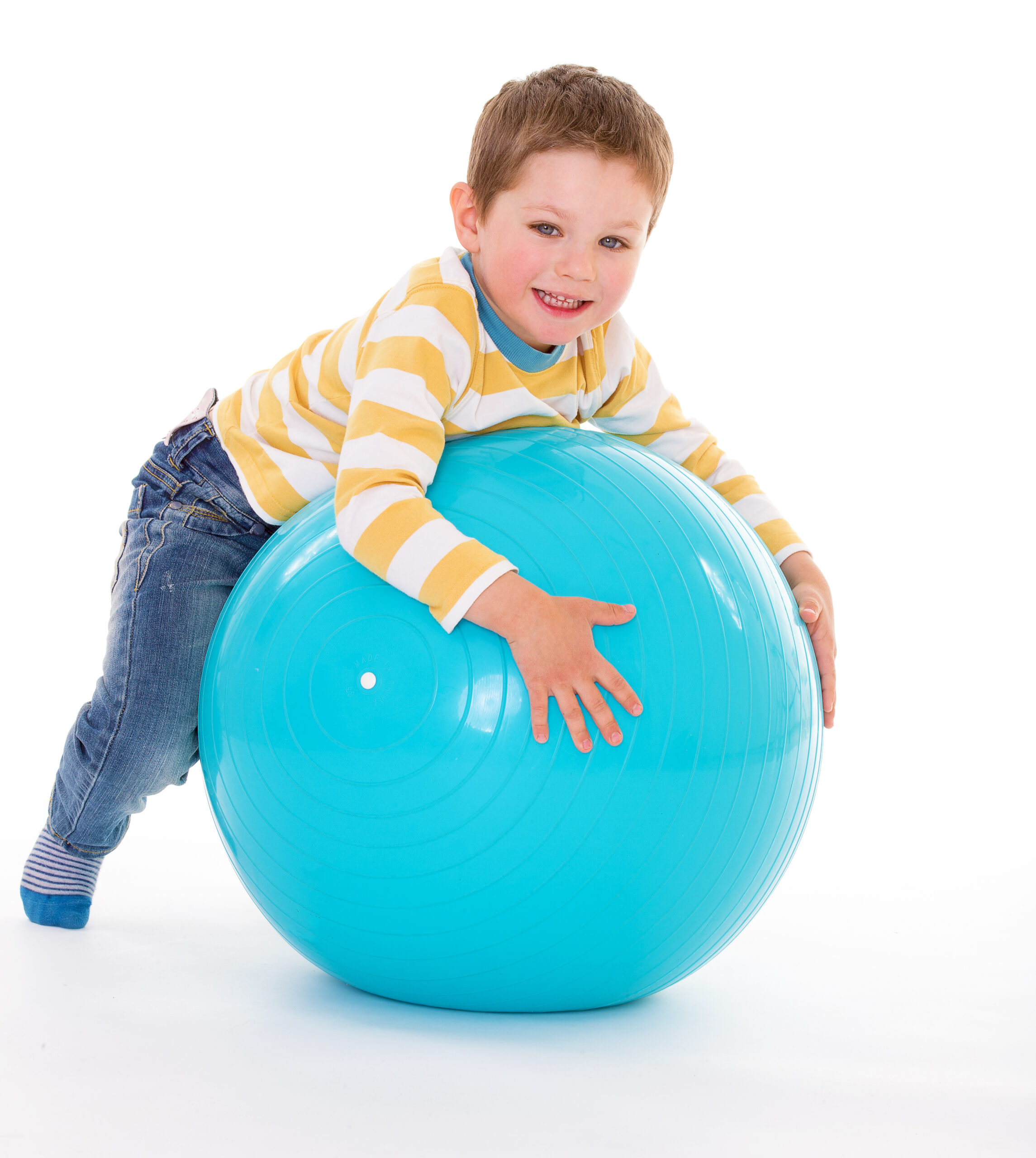 Little,Boy,With,A,Big,Ball.isolated,On,White,Background.